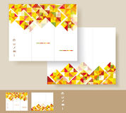 Vector brochure template design Stock Photos