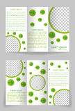 Vector brochure template design with green element. Brochure sample for your business stock illustration