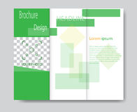 Vector brochure template design with green elements Stock Photo