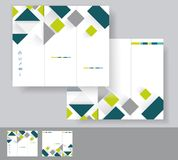 Vector brochure template design Royalty Free Stock Images