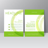 Vector brochure template design Stock Images