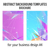 Vector  brochure template design with line elements. A4 poster Royalty Free Stock Photography