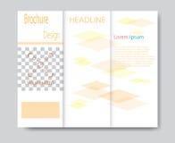 Vector brochure template design with orange elements Stock Photos