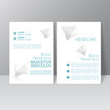 Vector brochure template design Stock Images