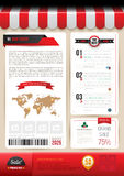 Vector brochure template design shop style. Royalty Free Stock Images