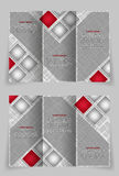 Vector brochure template design with squares Royalty Free Stock Photos