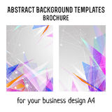 Vector  brochure template design with triangles elements. A4 poster Stock Photography