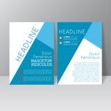 Vector brochure template design Royalty Free Stock Photo
