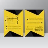 Vector brochure template design Stock Photos