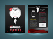 Vector brochure template design tuxedo style. Stock Images