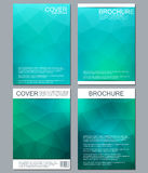 Vector brochure template, flyer, cover magazine in A4 size. Business abstract background with triangles. Royalty Free Stock Photography