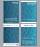 Vector brochure template, flyer, cover magazine in A4 size. Business abstract background with triangles. Royalty Free Stock Photo