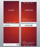 Vector brochure template, flyer, cover magazine in A4 size. Business abstract background with triangles. Royalty Free Stock Photos