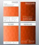 Vector brochure template, flyer, cover magazine in A4 size. Business abstract background with triangles. Stock Photo