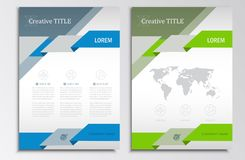 Vector brochure template A4 format layout.  Royalty Free Stock Photos