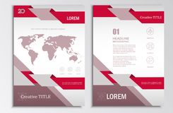 Vector brochure template A4 format layout headers.  Stock Photo