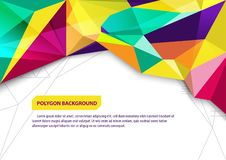 Vector brochure advertising template, poster polygon background design layout royalty free illustration