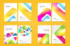 Vector brochure template set. Abstract design and Royalty Free Stock Photo