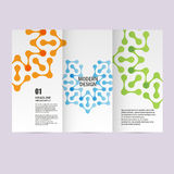 Vector brochures with abstract figures. Design pattern vector illustration