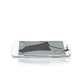 Vector of broken glass phone cellular Stock Image