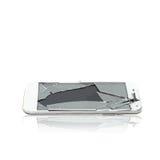 Vector of broken glass phone cellular stock image