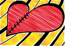 Vector Broken heart Royalty Free Stock Photo