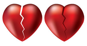 Vector broken hearts Stock Image