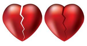 vector broken hearts Stock Image