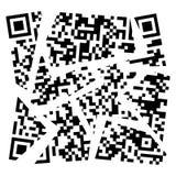Vector broken qr code Stock Photo
