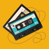 Vector broken vintage audio tape Royalty Free Stock Photos