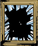 Vector broken window Royalty Free Stock Photography