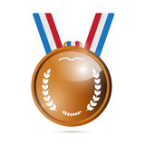 Vector Bronze Medal, Award Royalty Free Stock Photo