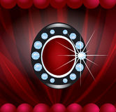 Vector brooch Royalty Free Stock Image