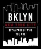 Vector Brooklyn typograhy Imagen de archivo