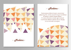 Vector broshure pages template. Stock Photography