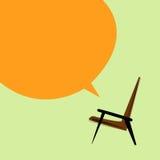 Vector brown armchair on a light background Stock Photos