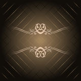 Brown background with gold ornament Royalty Free Stock Photography