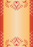 Vector brown card with lattice vector illustration