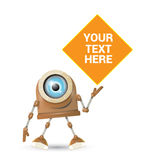Vector brown cartoon robot isolated on white Royalty Free Stock Photography