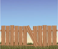 Vector brown fence Royalty Free Stock Photography