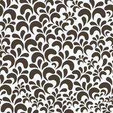 Vector brown floral vintage seamless pattern Royalty Free Stock Photos