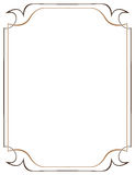 Vector brown frame on a white background Royalty Free Stock Images