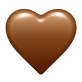 Vector brown glossy chocolate heart bonbon. Isolated On White Background. Good for Valentine`s day design Royalty Free Stock Images
