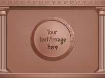 Vector brown greek style background, concept. You Stock Images