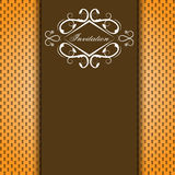 Vector brown invitation card Stock Photo