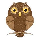 Vector brown owl Royalty Free Stock Photos