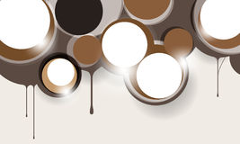 Vector brown round elements background Royalty Free Stock Photography