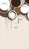 Vector brown round elements background Royalty Free Stock Photo