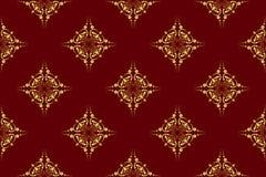 Vector brown seamless geometrical texture. Vector dark brown seamless geometrical texture Stock Images