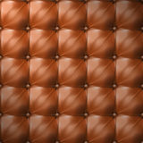 Vector of brown upholstery leather pattern background Stock Photos
